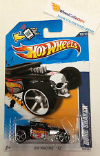 Bone Shaker #180 * Walmart Only BLACK * Hot Wheels 2012 * Z50