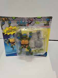 Headdroppin-039-Leo-Carded-1991-TMNT-Playmates-Ninja-Turtles-Vintage-read
