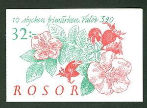 SWEDEN (H447B) Scott 2075a, Roses booklet, VF