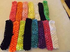 Wholesale 30 pcs Girls Baby Crochet Headband With 1 inch Acrylic