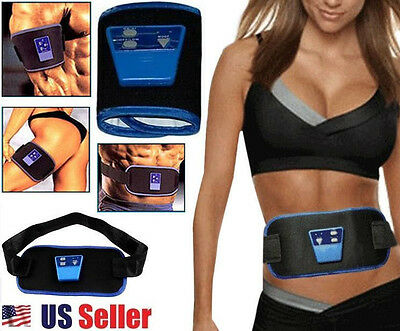 AB Gymnic Electronic Muscle Arm leg Waist Body Massager Belt with 2 Straps & Gel