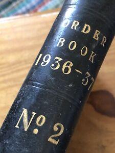 Antique Ledger 1936/7 Steel Order Book Stage Film Play Prop Vintage Crafting Old