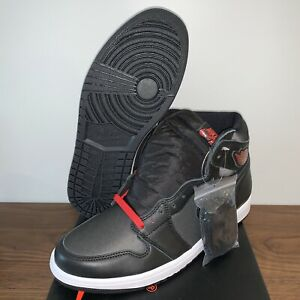 Nike-Air-Jordan-1-Retro-High-OG-Black-Satin-Red-Shoes-555088-060-Men-039-s-Size-10-5