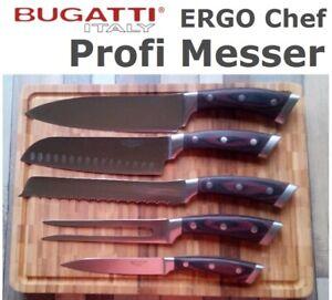BUGATTI-ERGO-Chef-Profi-Messer-Chefmesser-Santoku-Fleischgabel-Saege