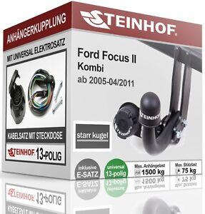 Anhaengerkupplung-starr-Fuer-Ford-FOCUS-II-Kombi-05-08-E-SATZ-13polig-ABE