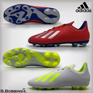 Adidas-X-18-4-FXG-Chaussures-De-Football-Taille-UK-10-11-12-13-1-2-3-4-5-5-5-Garcons-Filles