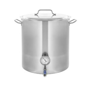 CONCORD-Stainless-Steel-Home-Brew-Kettle-Brewing-Stock-Pot-Beer-Wine-Set