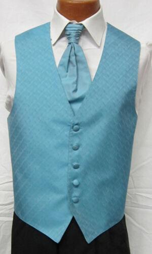 Mens Spectrum Fullback Wave Pattern Wedding Groomsmen Prom Tuxedo Vest /& Tie