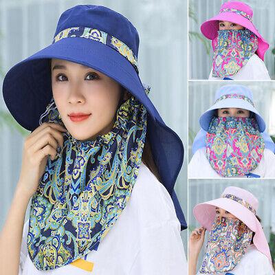 YULINGSTYLE Sun Hats Women,Wide Brim Fashion Casual Women Foldable Beach Anti-Uv Cotton Sunscreen Cap