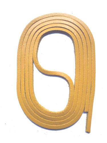 Schnürsenkel LEDERSENKEL 120cm ca.3mm Docksider Lederriemen für Dockers SNORS