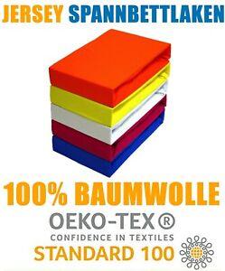 JERSEY SPANNBETTLAKEN SPANNBETTUCH 100% BAUMWOLLE 90x200 140x200 160x200 180x200