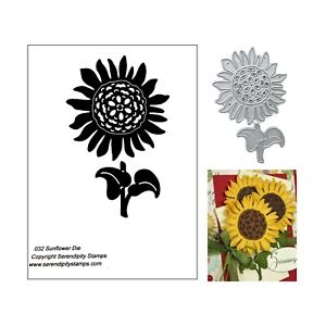 Sunflower-Metal-Die-Cut-Serendipity-032-Cutting-Dies-Flowers-Floral-Summer