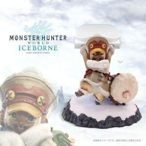 CAPCOM-Monster-Hunter-MONDO-iceborne-Ghiaccio-a-carico-velkhana-palico-Figura