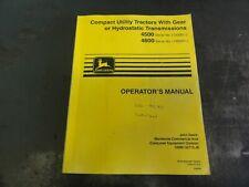 John Deere 4500 4600 Compact Utility Tractors Operators Manual Omm135715 J8