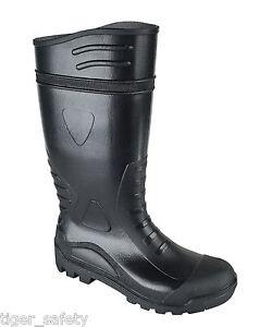 tuffking-4212-S5-SRA-DAMES-NOIR-ACIER-ORTEIL-EMBOUT-PROTECTEUR-bottes-caoutchouc