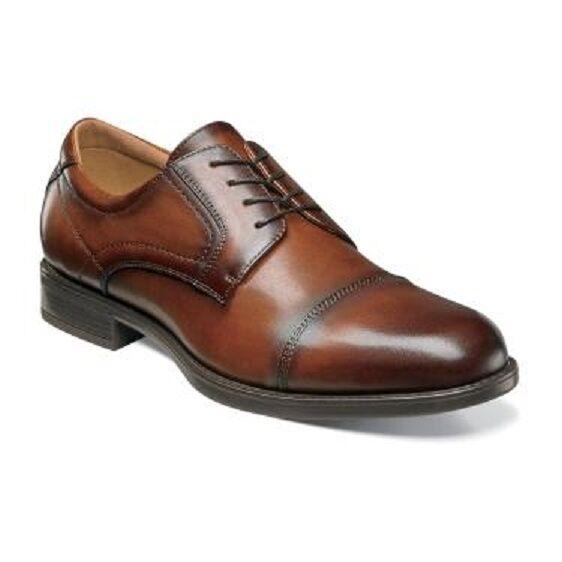 Florsheim shoes Midtown Cap Toe Oxford Cognac Casual Dressy Leather 12138-221