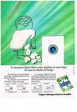 PUBLICITE  1971   CALGON  entretien lave linge machine à laver