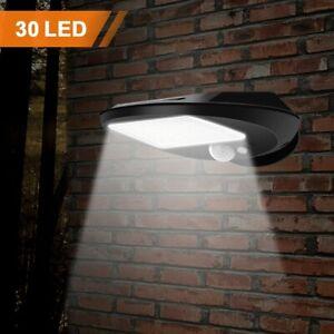 2X-Lampada-a-Muro-Solare-Sensore-Applique-Led-Luce-Lampione-Faro-Faretto-Giardin