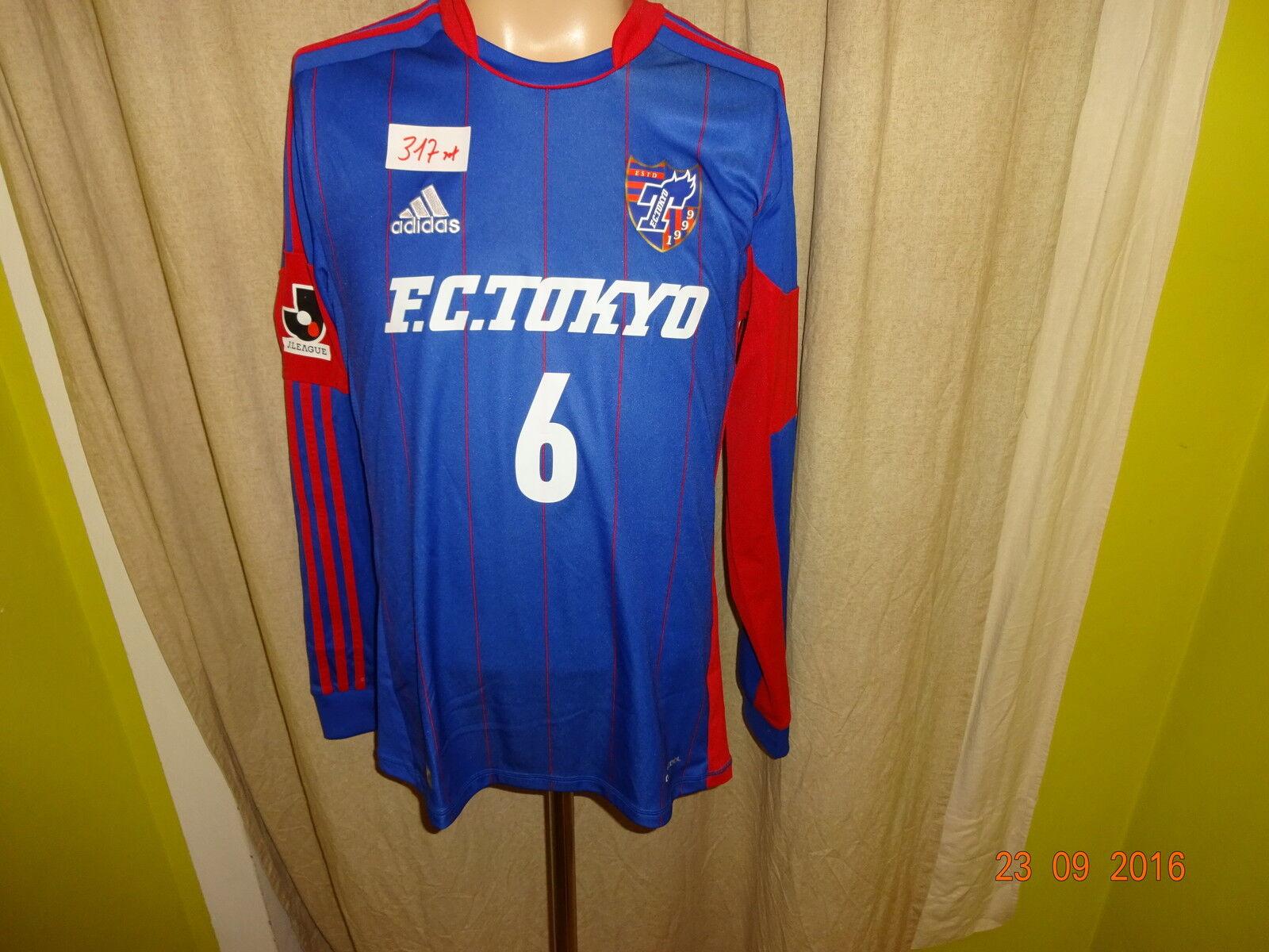 F.C.Tokyo Original Adidas Langarm Jugend Matchworn Trikot 2012 13 + Nr.6 Gr.M