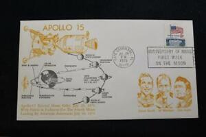 Space-Cover-1971-Slogan-Annullo-Postale-Apollo-15-Entra-Luna-Orbit-Orbit-5241