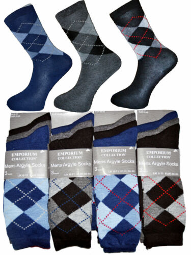 12 Pairs Men`s Boys EVERYDAY COTTON DESIGN SOCKS  Assorted Pattern Color Socks