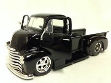 1952 Chevy COE Pickup Truck, 1:24 Diecast, Collectible, Jada Toy, GROSS BLACK