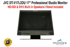JVC-DT-V17L2DU-17-034-Professional-Studio-Monitor-1440-x-900-HD-SDI-DVI-With-Stand