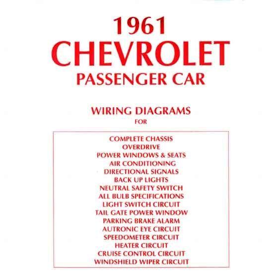 1961 Impala Wiring Diagram  Chevy Fullsize Car