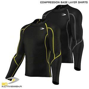 Mens-Compression-Base-Layer-Top-Baselayer-Cycling-Sports-Gym-Shirt