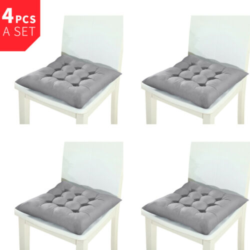 Tie On Chair Cushions Square Seat Pads Cover for Patio Dining Room Set of  2 4