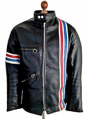 Coscienzioso Vintage Anni'60 Tt Leathers Easy Rider Cafe Racer Moto Biker Bike Jacket Coat Med-mostra Il Titolo Originale