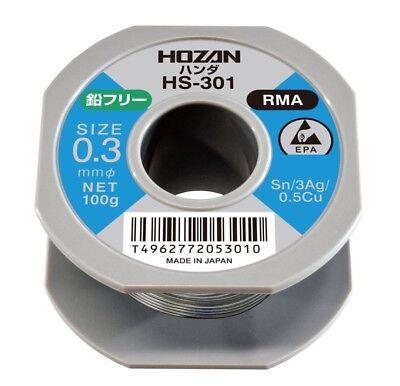 0.3mm//100g HS-301 MADE IN JAPAN HOZAN LEAD FREE SOLDER