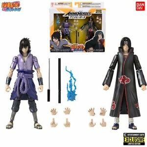 Naruto-Shippuden-ITACHI-amp-SASUKE-UCHIHA-EE-Exclusive-SDCC-2pack-Bandai-In-Stock