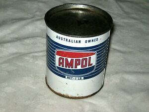 An-Ampol-Australian-Owned-1lb-Blue-Grease-Tin-Paper-Identifying-Label-Removed