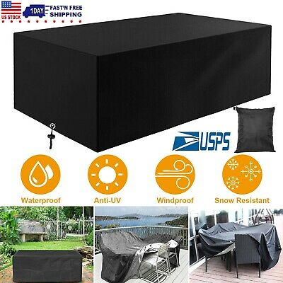 Garden Patio Waterproof Furniture Cover Covers Rainproof Water Proof Size Choose