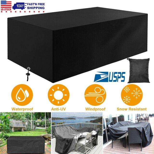Patio Furniture Cover Waterproof Dustproof Outdoor Garden Rattan Table Cover