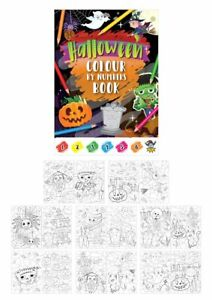 Halloween Party Bag Fillers Colour By Number Colouring Book Trick Or Treat Toys
