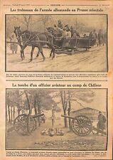 Sleds Traîneaux Deutsches Heer Tombe Aviateur Mendès Camp de Châlons WWI 1915