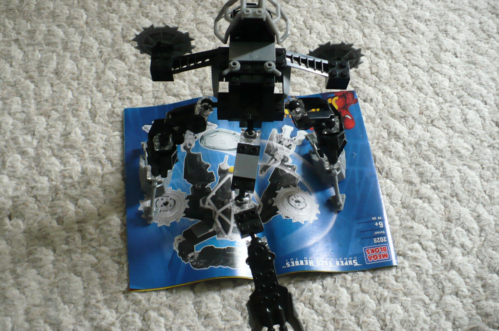 Retired Retired Retired Megabloks super tech heroes 2028 Venom Techbot 7   Amazing Spiderman e6f9e1