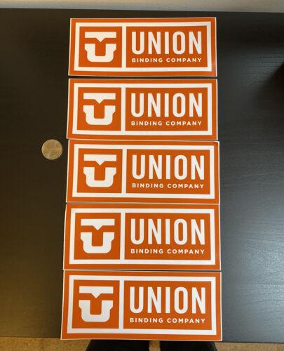 Union Binding Company Stickers Snowboarding Lot of 5