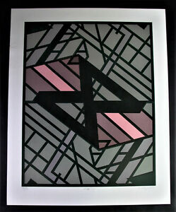 Manfred KLOPPERT (*1943 Dresden) - Lithographie WEGE II  -  DDR-Kunst 1984