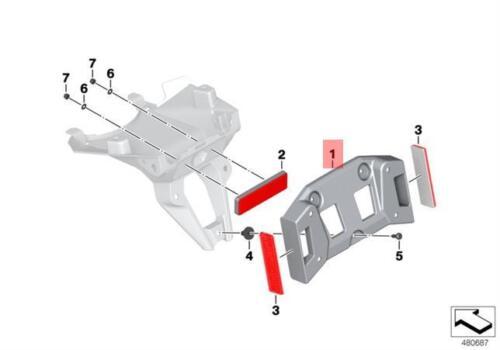 Genuine BMW K50 K51 Licence Plate Adaptor OEM 63148526808