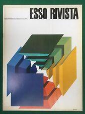 ESSO RIVISTA n.4 Ott/Dic (1974) Cover PIER MARCO BOSCHI Magazine art