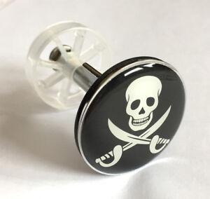Skull-Stoepsel-Badewanne-Totenkopf-Abfluss-Stopfen-Jolly-Pirat-NEU-cool-Geschenk
