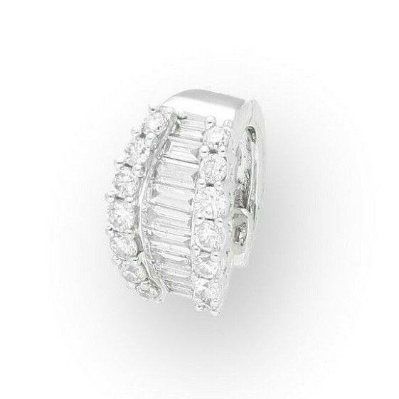 18Carat White gold 0.33ct Diamond Single Cluster Stud Earring (7mm Widest)