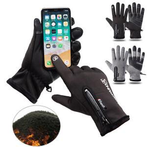 Winter-Touch-Screen-Handschuhe-Unisex-Fleece-Thermo-Warme-Winddichte-Handschuhe