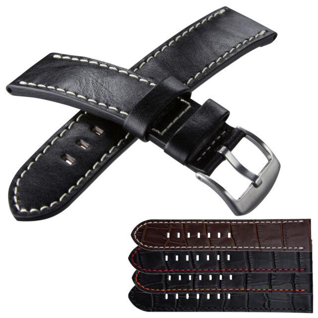 High Quality Genuine Leather Watch Strap for U-Boat Flightdeck 50-55 etc. 23 mm