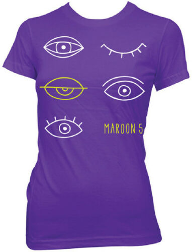 MAROON 5 S,M,L,XL Brand New Girlie T Shirt top Eyes Official Merchandise