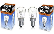 Pack 2 Himalayan Salt Lamp Bulb 15W E14 Screw Pygmy Light Bulbs Set Clear Glass
