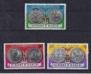 v1993 St.Vincent & Die Grenadinen/ Münzen auf Briefmarken  MiNr 115/17 **